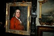 Outstanding Museum Quality Oil Painting Of Benjamin Franklin