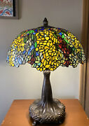 Vintage Style Laburnum Stained Glass Table Lamp
