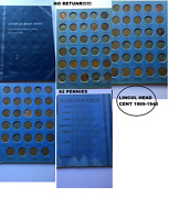 62 Pennies Lincoln Head Cent Collection 1909-1940 Number One --missed 27.