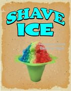 Shave Ice Decal Choose Your Size Hawaiian V Food Truck Concession Sticker