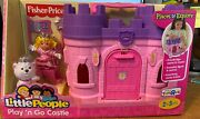 New Fisher-price Little People Playand039n Go Castle Pink Retired Vhtf Toys R Us