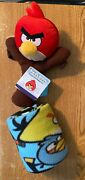 New Angry Birds Red Bird On Slingshot 11 Plush Stuffed Animal And Attached Throw