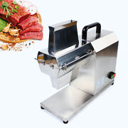 New Commercial Meat Tenderizer Electric 110v 750w Stainless Steel Cuber Tk-12mt