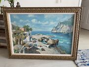 Beautiful Antique Original Painting By Listed Artist Guisseppe Salvati