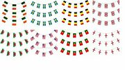 World Flags Bunting 33 Feet Flag World Cup National Outdoor Garden Party Uj Gb