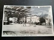 Lobby And Fireplace Crater Lake Ledge Rppc Photo Postcard