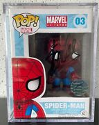 Spider-man Funko Pop 03 Signed By Stan Lee W/coa