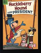 Huckleberry Hound For President 1141 Dell 1960 Fn Movie/tv Hanna Barb 4-color