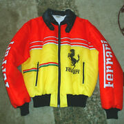 Rare Vintage 1979 Ferrari Racing Insulated Jacket Made By Italstyle For Ferrari