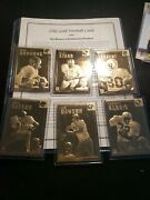 22kt Gold Football Cards History Of Professional Football Bart Star Sayers Lot 6