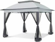 Pop-up Gazebo Tent 11x11 With Mosquito Netting Outdoor Gazebo Canopy Shelter