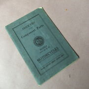 1917-1920 Reading Standard Component Parts And Price List