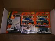 New Lot Of 3 Matchbox Cars - Street Cleaner Delivery Van Ground Breaker