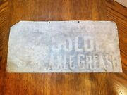Antique Waters Pierce Oils - Golden Axel Grease Metal Sign - Super Rare