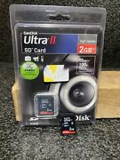 Sandisk 2gb/15mb Ultra Sd Secure Digital Card Sdsdh-002g-a11 Lot Of 2