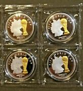 Fifa World Cup Germany Gold Plated - 2006 Set Of 4 Silver Coins