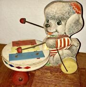 Adorable 1962 Vintage Fisher Price Poodle Xylophone Pull Toy
