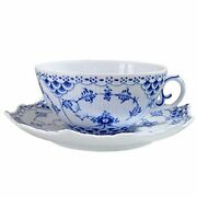 [regular Imported Goods] Royal Copenhagen Blue Fluted Full Lace Tea Cup And Sauc