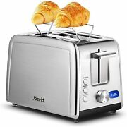 Joerid Toaster 2 Slice Best Rated Stainless Steel Toaster With Warming Rack