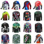 Mens Cycling Jersey Bike Downhill T-shirt Long Sleeve Motorcycle Breathable Tops