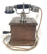 Vintage 1927 Marty Telephone Phone Aoip Military Version Display Or Parts As Is