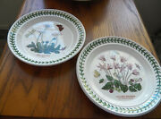 2 Portmeirion Botanic Garden 7.5 Inch Bread And Butter Plates Daisy And Cyclamen