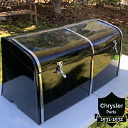Original 1931 - 1933 Convertable Phaeton Metal Black Trunk Factory Stock