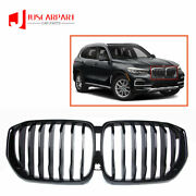 For Bmw X5 G05 Front Bumper Grill Grille Single Slat Black 2019-2021