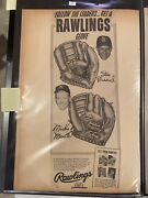 Mickey Mantle And Stan Musial Rawlings Glove Ad