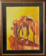 Earl Biss Serigraph Art Print Proof Xxii/xxv End Of The Trail Indian Horse Decor