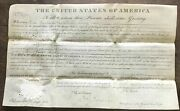 Superb President John Quincy Adams Signed A Licking County Ohio Land Grant 1828