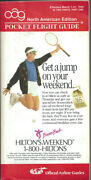 Oag Official Airline Guide North American Pocket Timetable 3/1/90 [1031]