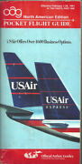 Oag Official Airline Guide North American Pocket Timetable 2/1/91 [1031]