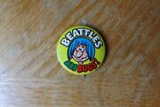 Vintage 70's Beattles Are Bugs Gumball Vending Machine Pinback Button Beatles