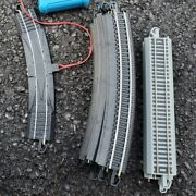 16 Piece Lot Of Bachmann Ez Track Nickel Silver 12 Curved 4 Straight Just Trax