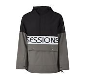 Sessions Chaos Pullover Black Mens 10k 2020 Snowboard Jacket