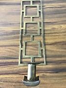 Sarreid Ltd Brass Candle Holder Wall Hanging With Candle