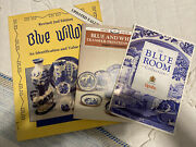 Antique Glassware And China Lot Of 3 Books Blue China Blue Willow