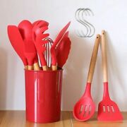Cooking Tools Silicone Utensils Set Turner Tongs Soup Spoon Brush Non-stick Oil
