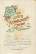 Singer Manufacturing Company / Catalogue Of Singer Sewing Machines For Family