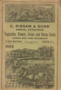C Ribsam And Sons' Annual Catalogue Vegetable Flower Grass And Farm Seeds