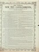 David The Scribe / People's New Ten Commandments From The Book Of John 1864