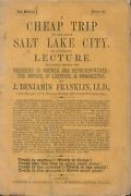 J Benjamin Franklin / Cheap Trip To The Great Salt Lake City An Annotated 1864
