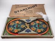 Vintage Antique Starlight Tin Litho Marble Game - Durable Toy And Novelty Co.