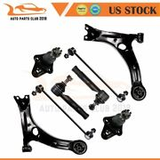 8x Front Lower Control Arms Tie Rods Sway Bars For 2000-2003 04 05 Toyota Celica