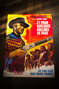 For A Few Dollars More 24 X 32 French Moyenne Fold Movie Poster Original 1965