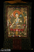 Collection Tibet Temple Pure Handcraft Natural Mineral Hand Painted White Tara