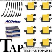 Acdelco Double Platinum Spark Plug + Energy Ignition Coil Wireset For Gmc C4500