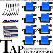 Acdelco Double Platinum Spark Plug + Direct Ignition Coil Wireset For Gmc C4500