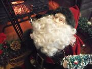 Christmas Wicker And Metal 21 Decorative Sleigh W/removable 19 Santa Claus Box